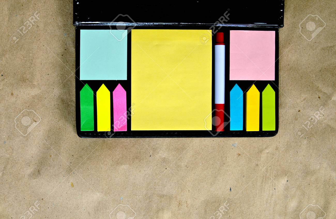 Multicolored  of post-it notes Stock Photo - 21724123
