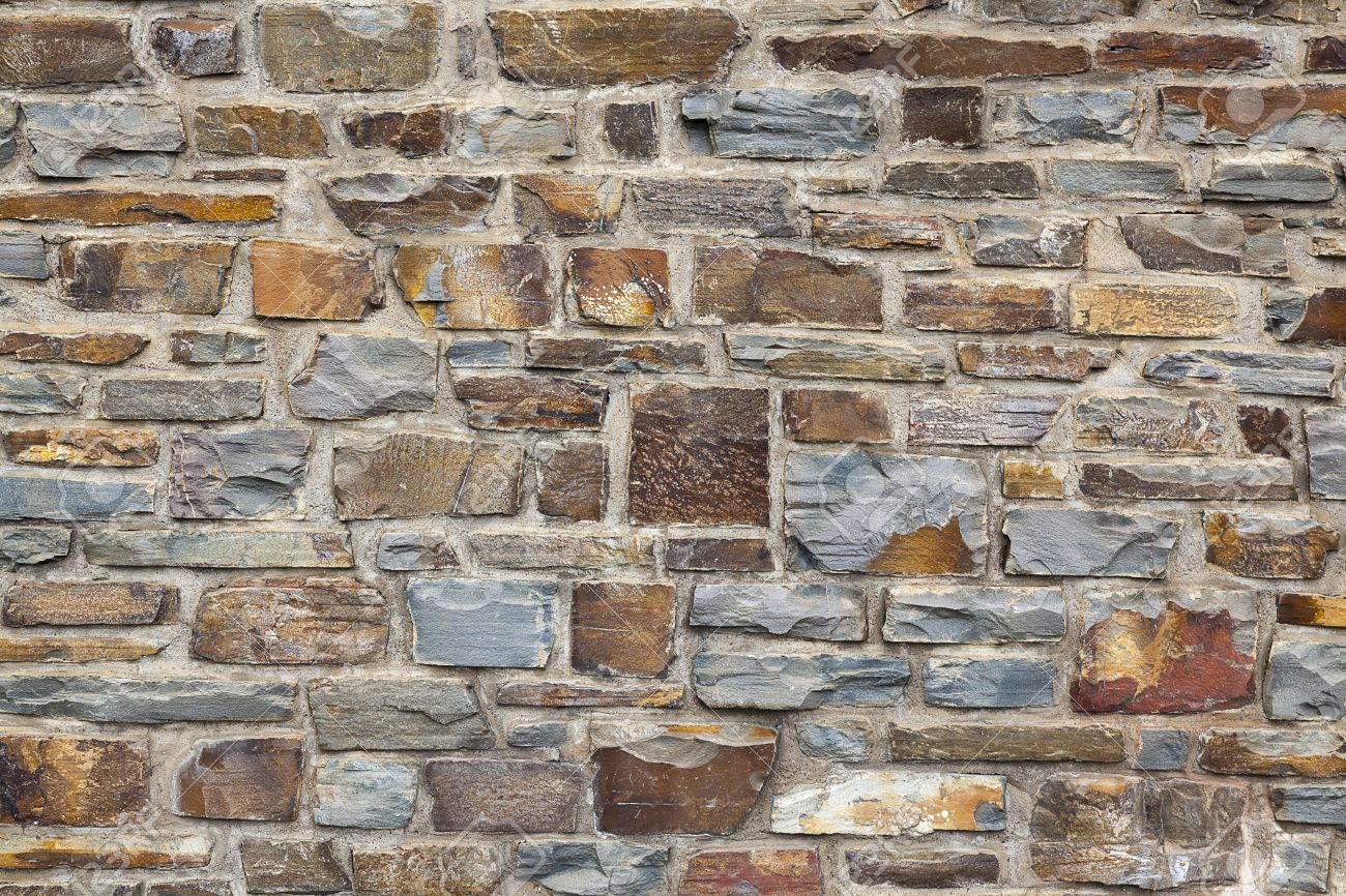 Unique Rustic Stone Wall Background Stock Photo Picture And Royalty
