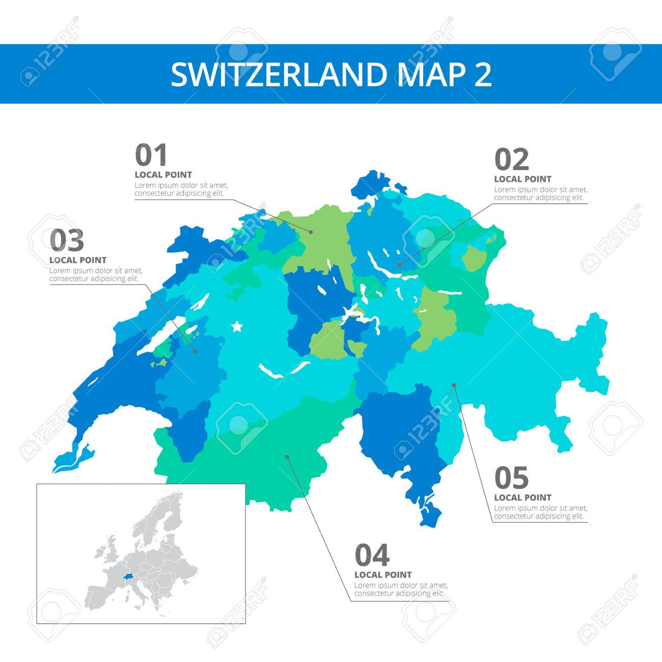 Picture of: Editable Template Of Detailed Map Of Switzerland With Information Royalty Free Cliparts Vectors And Stock Illustration Image 49712255