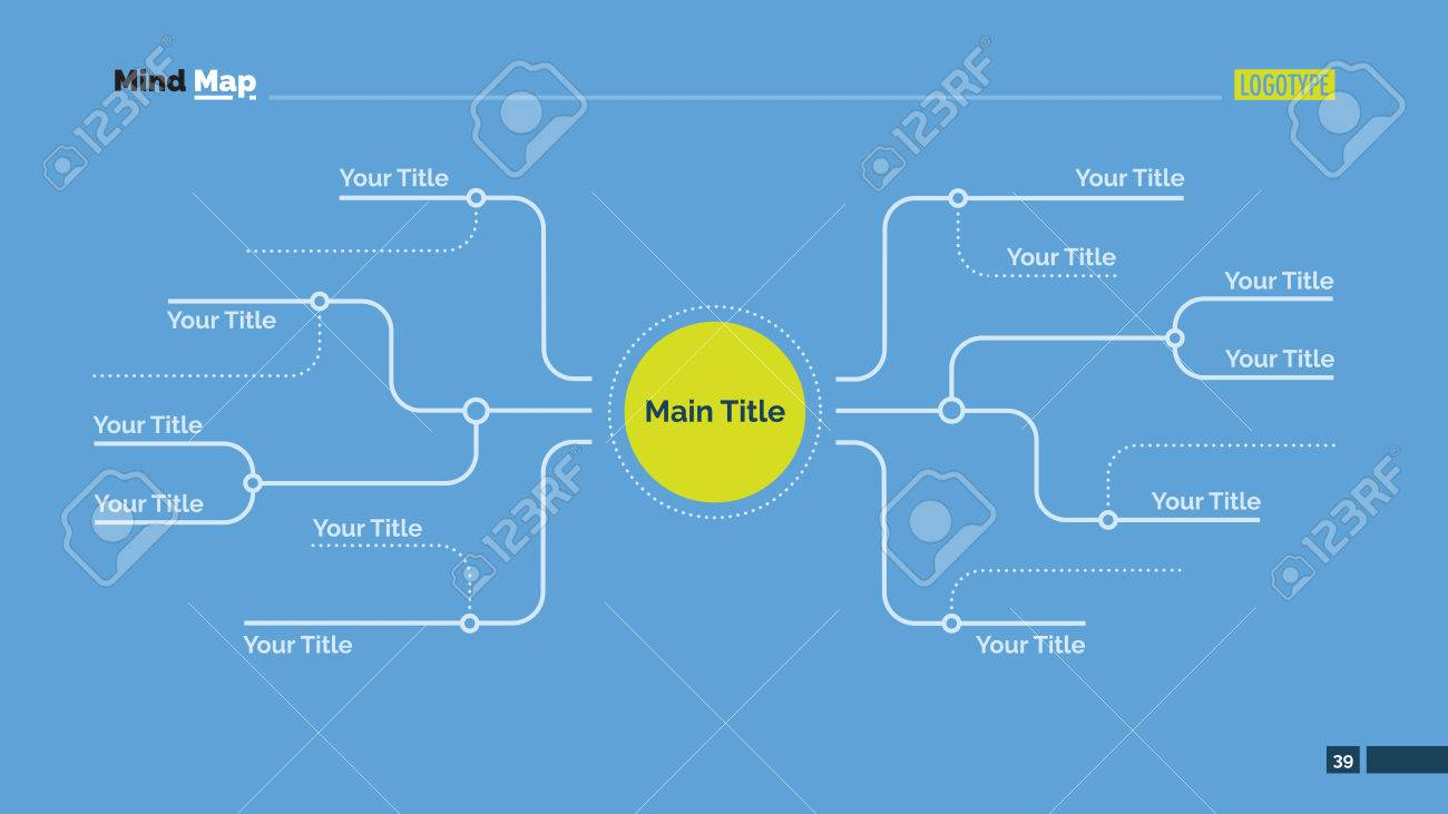 Free Editable Mind Map Template Editable Template Of Mind Map Diagram Slide With Several Branches