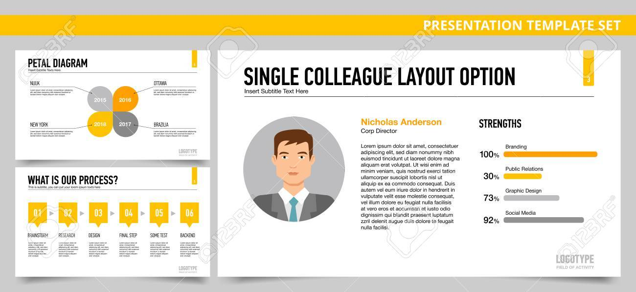 set of vector infographic presentation templates petal diagram