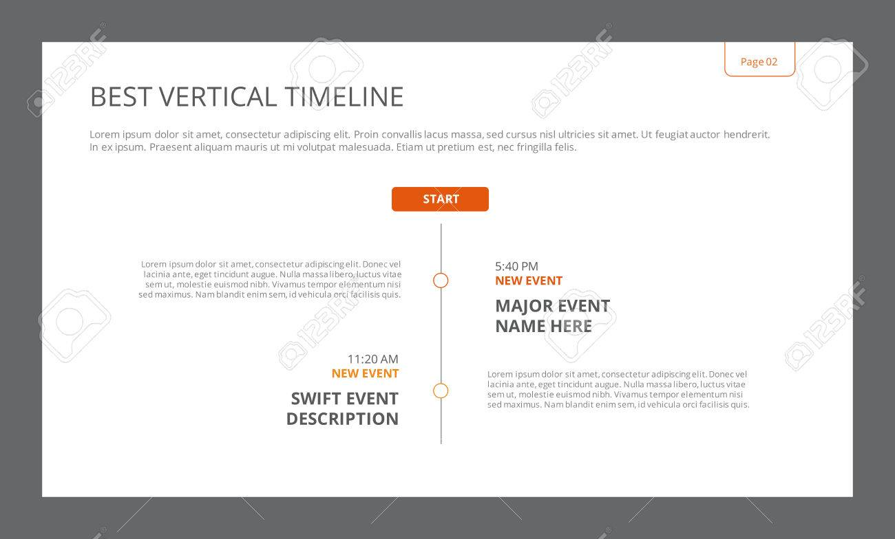 editable template of presentation slide representing simple vertical