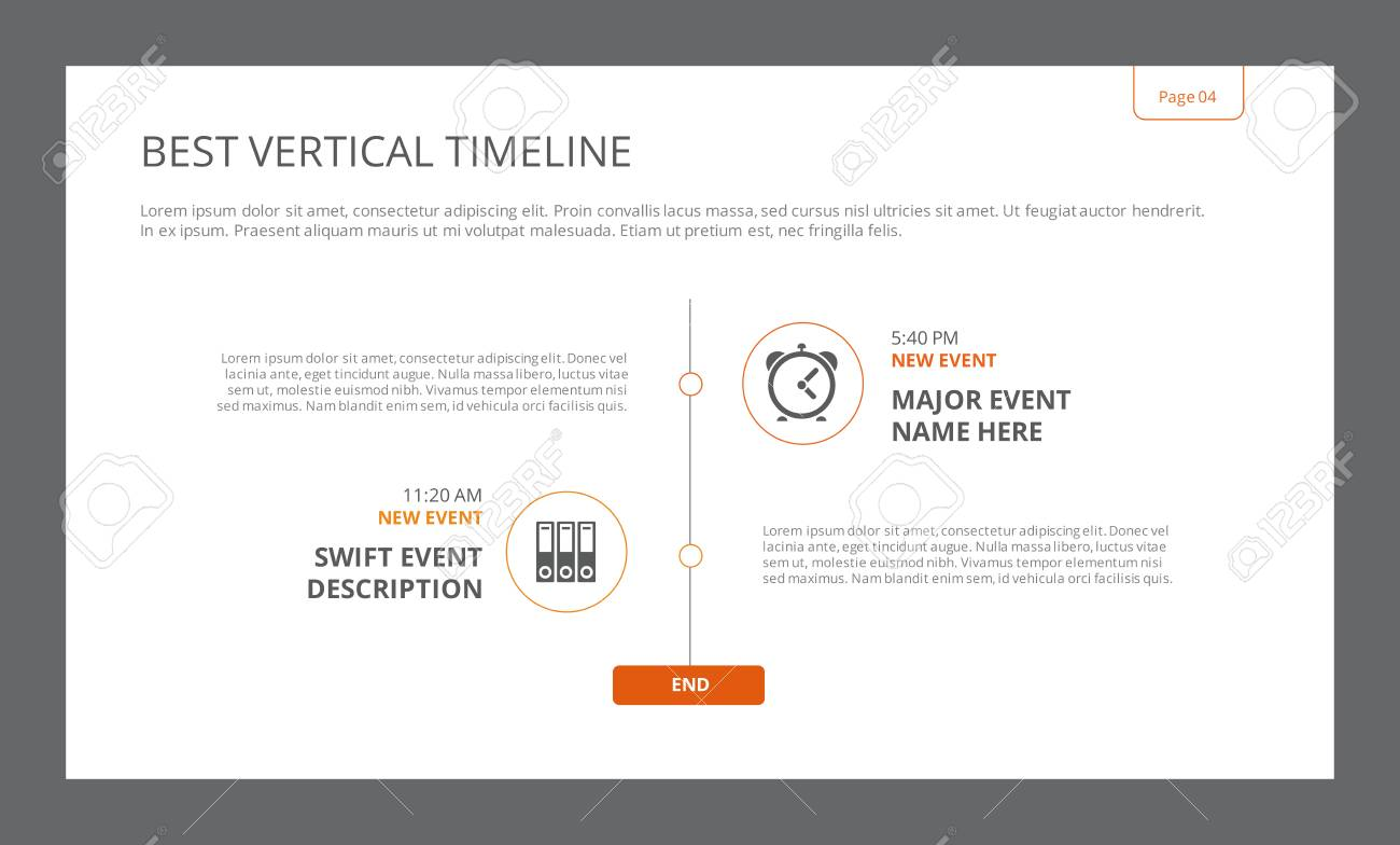 editable infographic template of best vertical timeline with