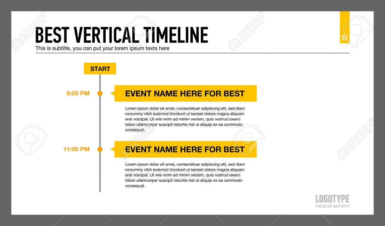 editable presentation slide template representing best vertical