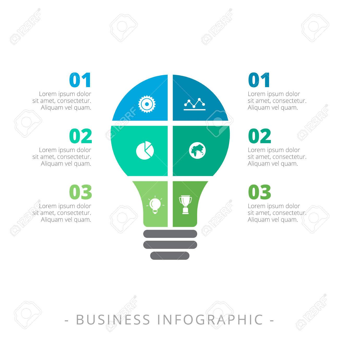 editable infographic template of three step process chart