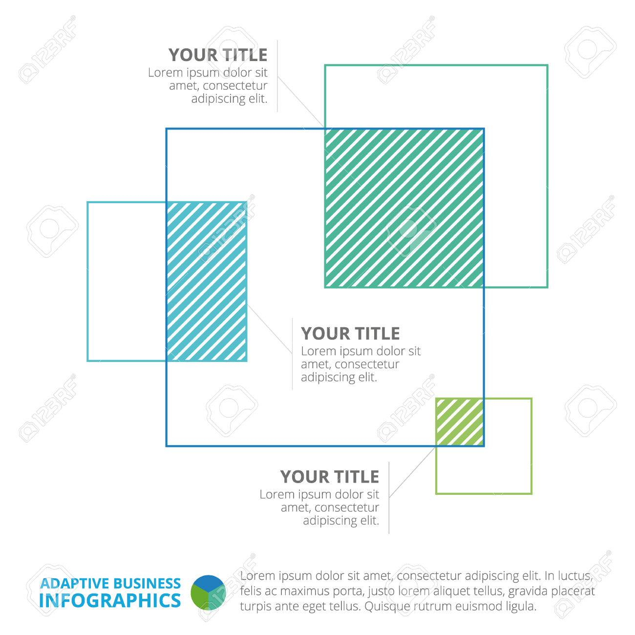 Venn diagram template representing squares with titles and sample vector venn diagram template representing squares with titles and sample text multicolored version ccuart Choice Image