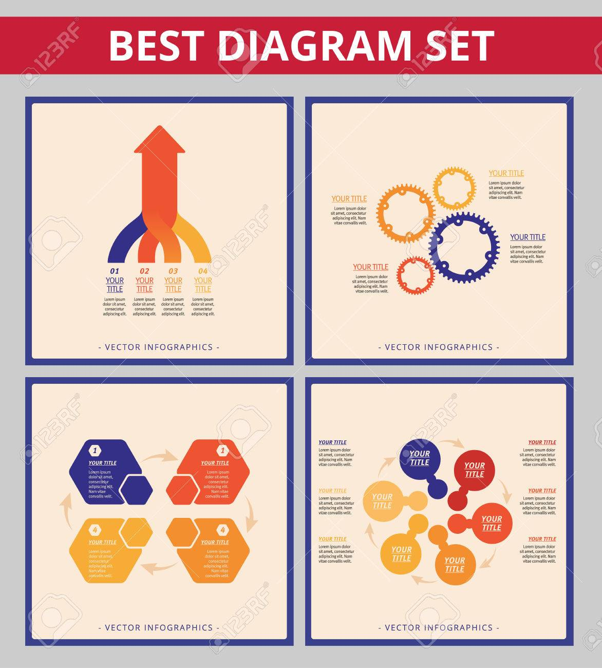 business diagram set editable templates for process diagram Internal Gear Diagram business diagram set editable templates for process diagram gear wheel chart and arrow diagram