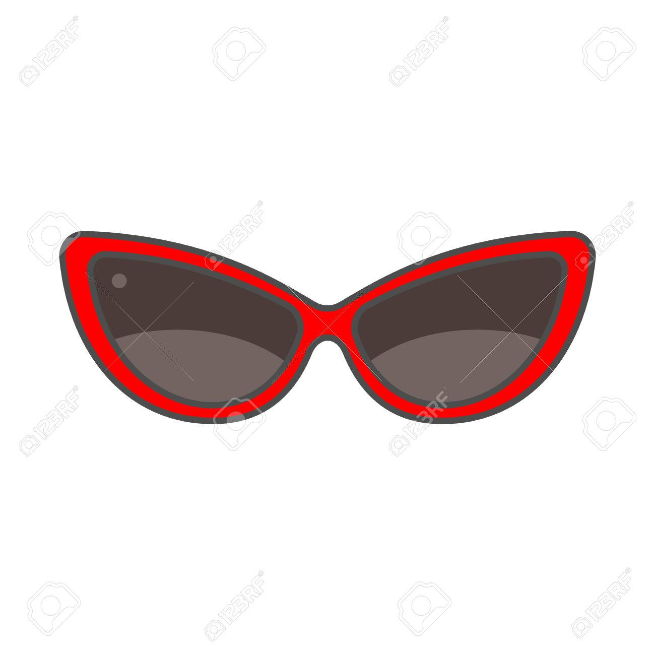 3e77bc6ccecab1 Banque d images - Womans lunettes de soleil icône vecteur. Ligne de couleur  icône de lunettes de soleil pour les femmes
