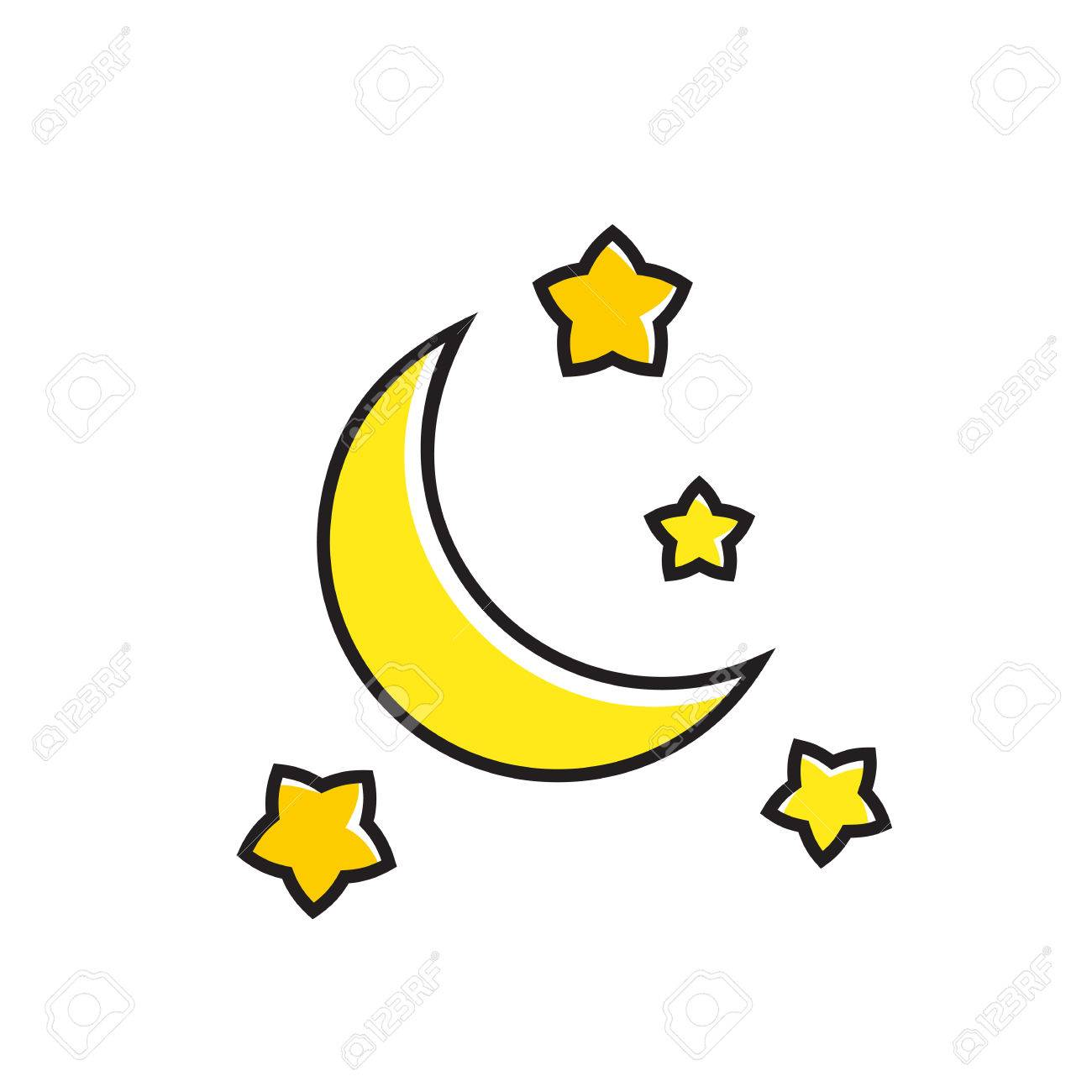 Crescent moon and stars illustration night weather calm weather crescent moon and stars illustration night weather calm weather forecast weather biocorpaavc Gallery