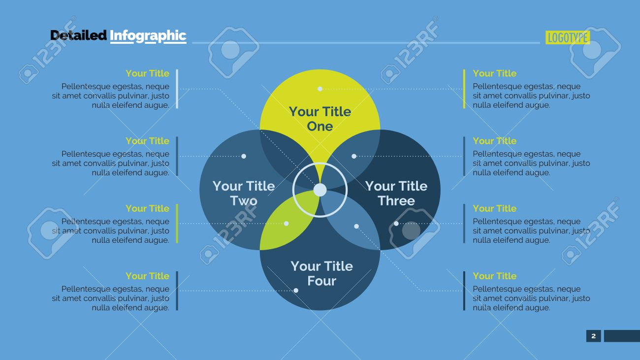 Four sides venn diagram element of presentation brochure four sides venn diagram element of presentation brochure diagram concept for infographics pooptronica