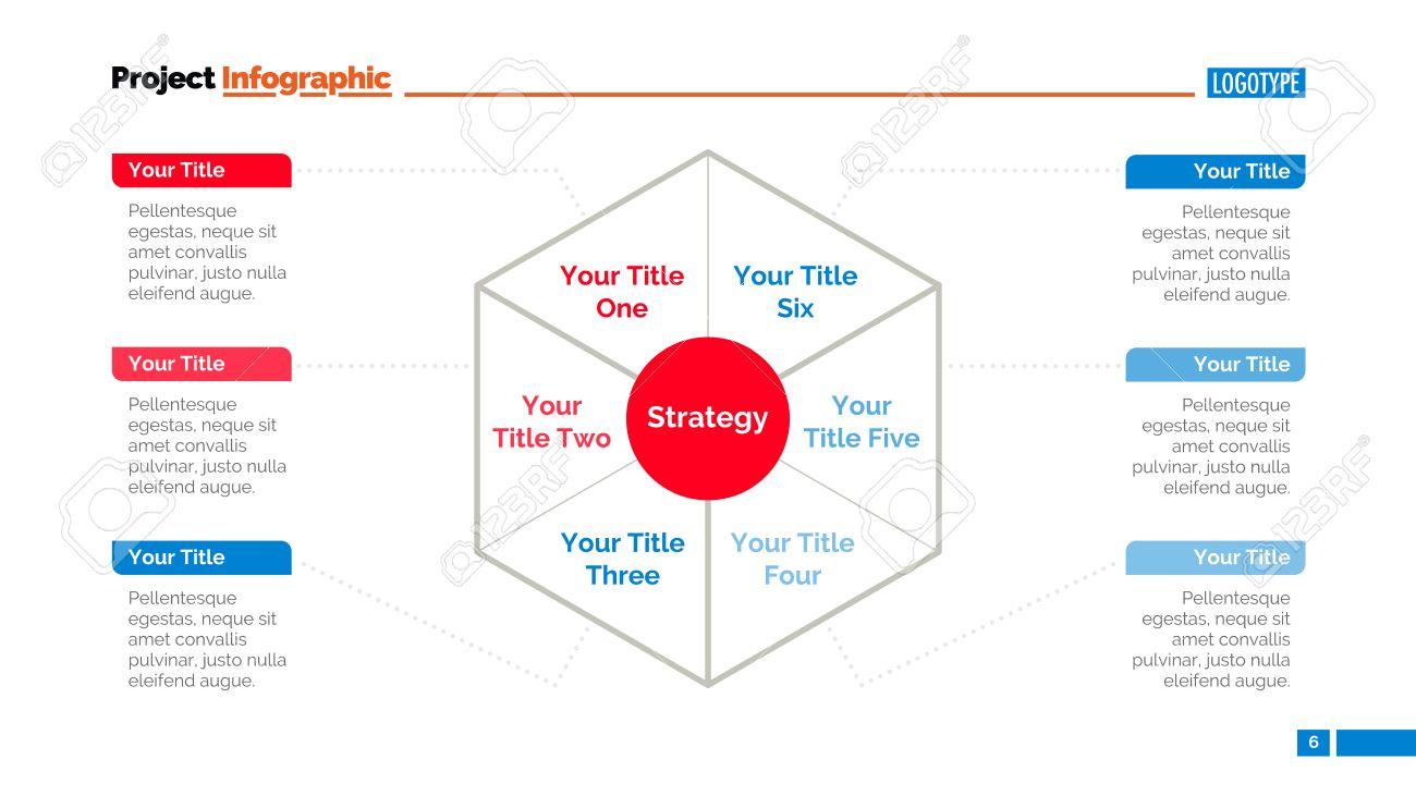 Process Mind Map Slide Template. Business Data. Chart, Graph ...