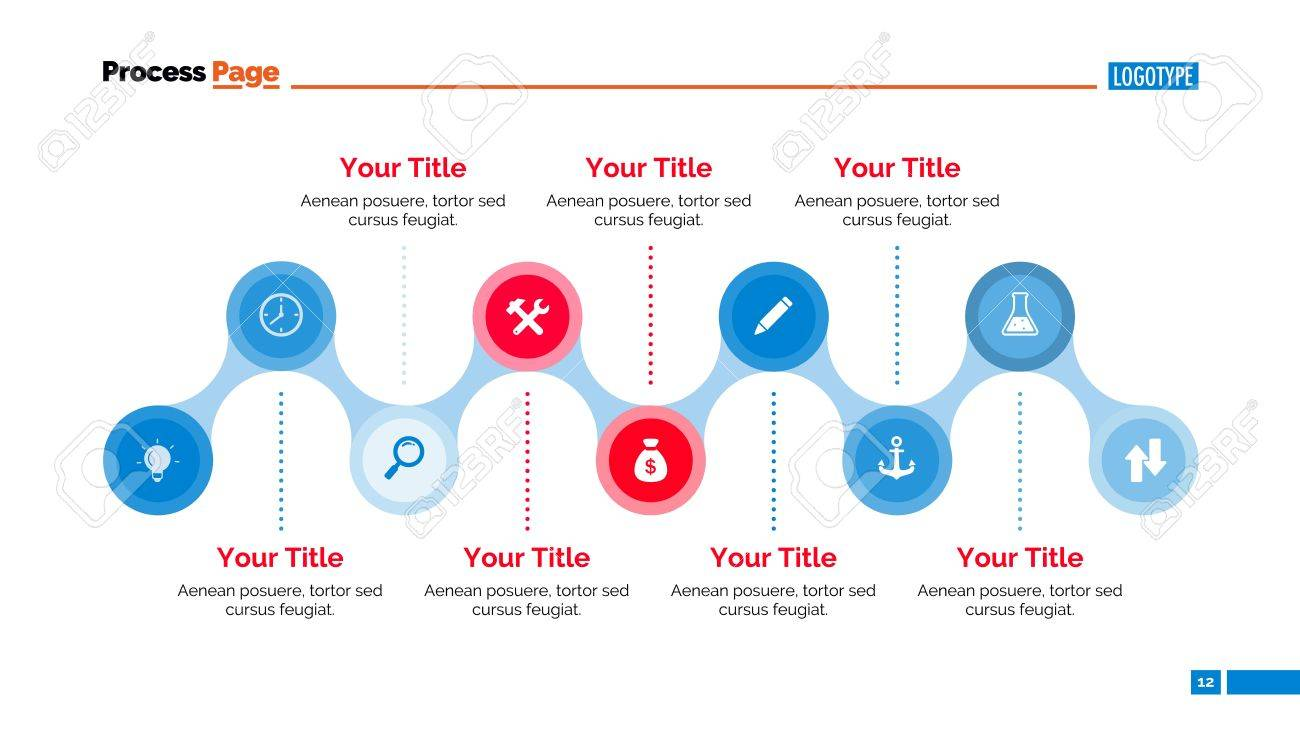 timeline diagram element of presentation flowchart horizontal