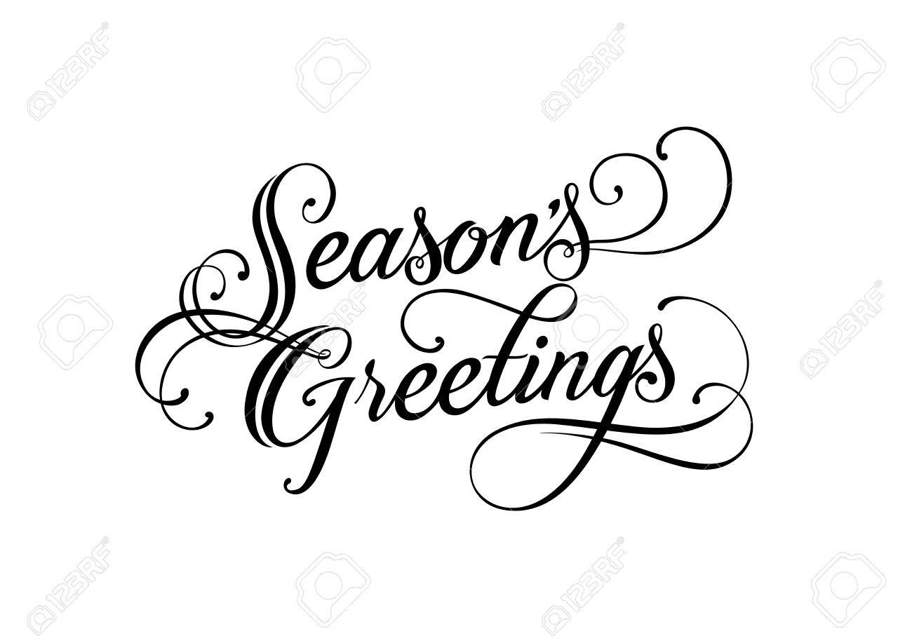 Seasons greetings lettering handwritten text calligraphy for seasons greetings lettering handwritten text calligraphy for posters banners leaflets and m4hsunfo