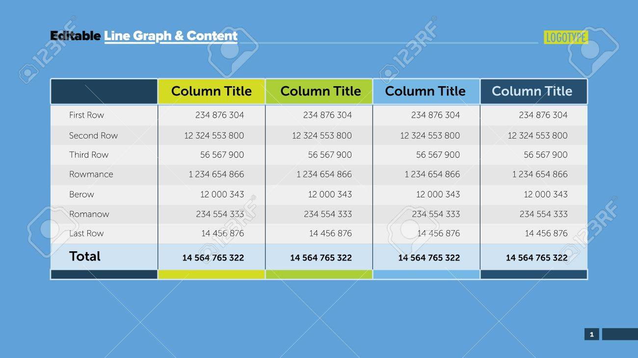 data table design. Four Options Calculation Table Slide Template. Business Data. Column, Cost, Design. Data Design