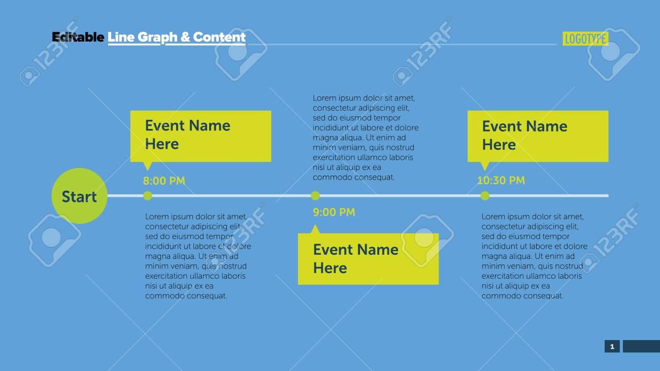 Tres Eventos Planifican La Plantilla De Diapositivas. Datos ...