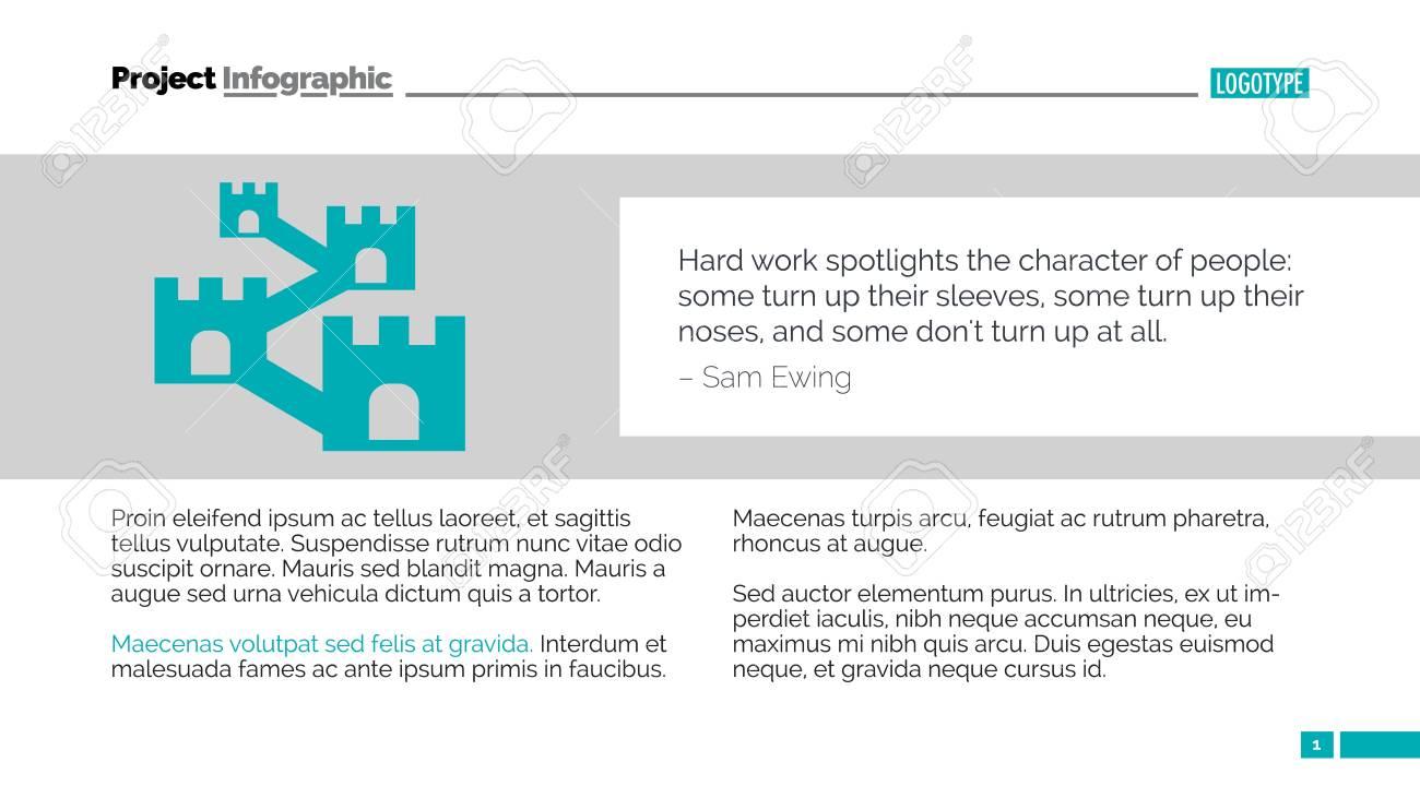 Wir über Uns Seite. Element Der Präsentation, Design, Infografiken ...