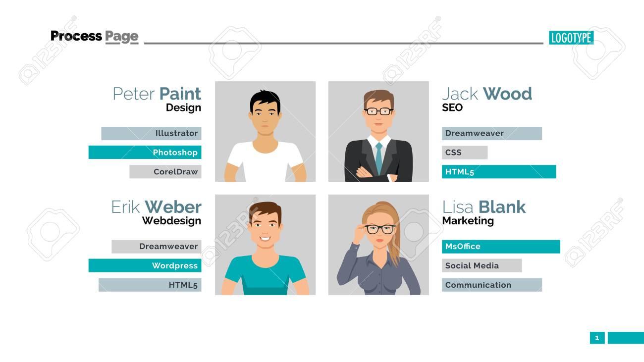 meet the team slide template presentation design infographic