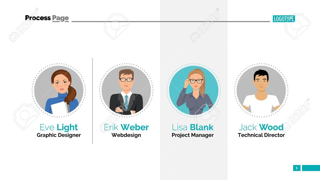 Our team slide template  Business data  Presentation, infographics,
