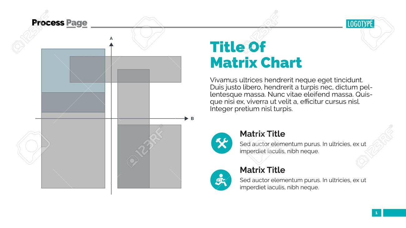 Matrix Chart Slide Template Business Data Presentation Diagram Design Concept For
