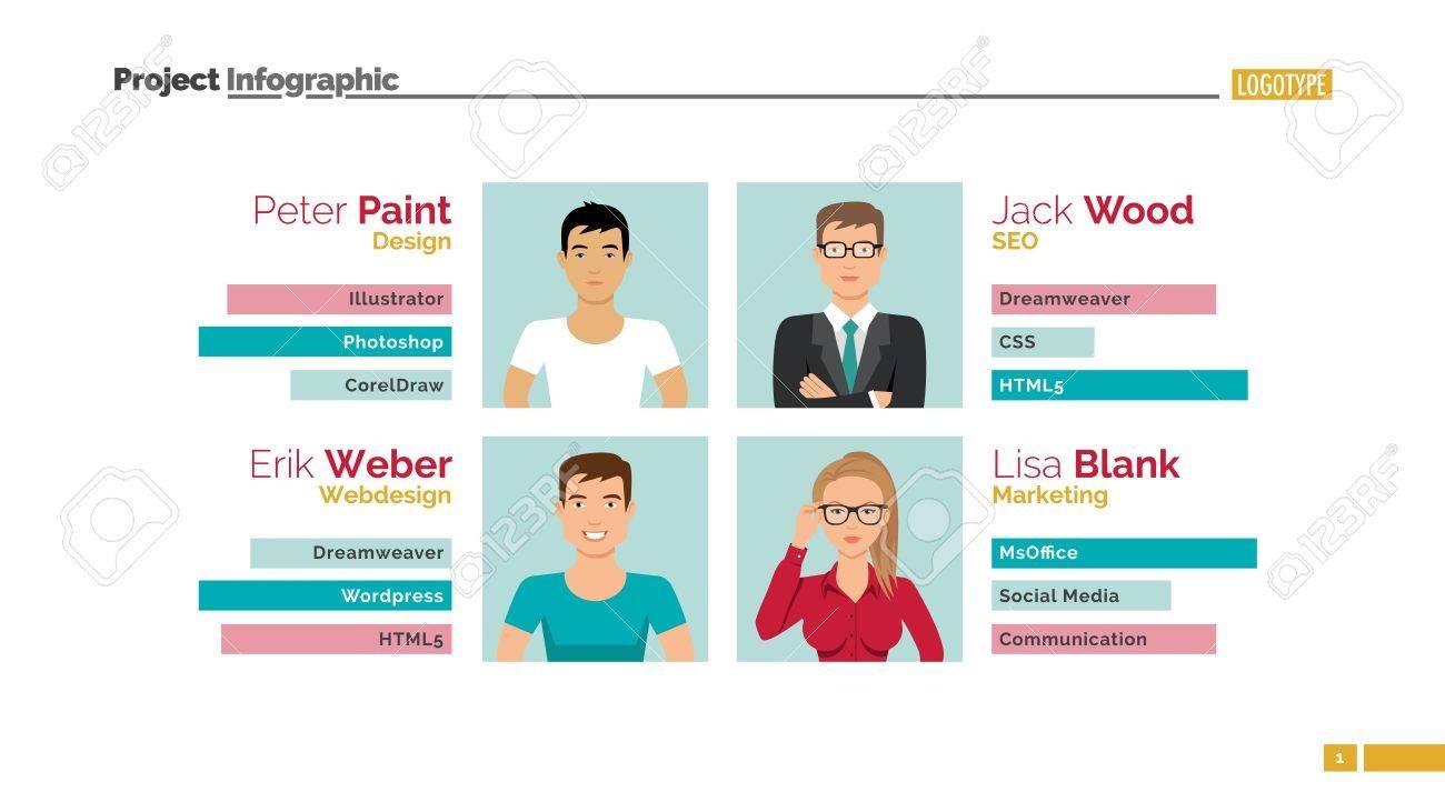 Meet the team slide template  Presentation, design, infographic