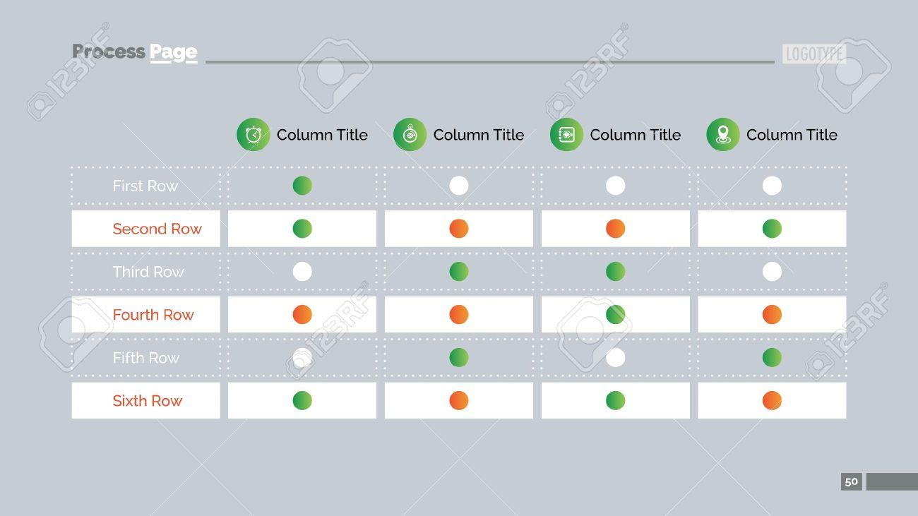 table chart slide template business data graph diagram design