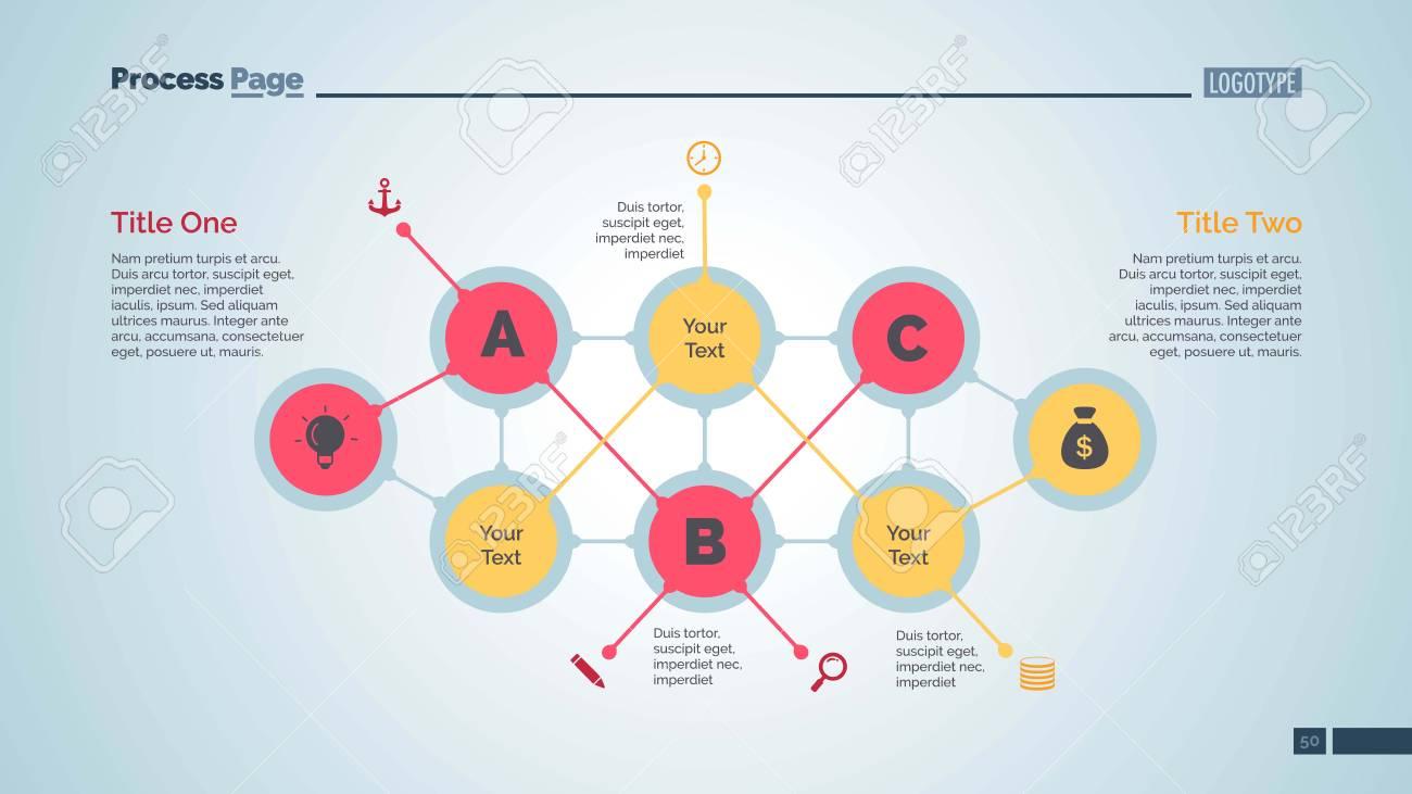 Abstract flowchart slide template  Business data  Structure,
