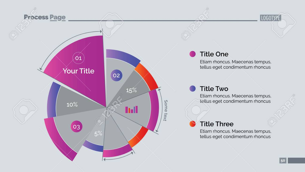 Business Pie Chart Slide Template Royalty Free Cliparts Vectors