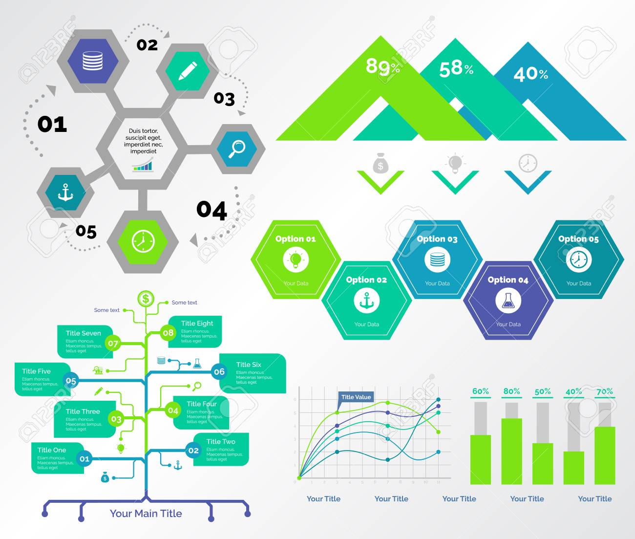 Infographic Design Set Can Be Used For Workflow Layout, Diagram ...