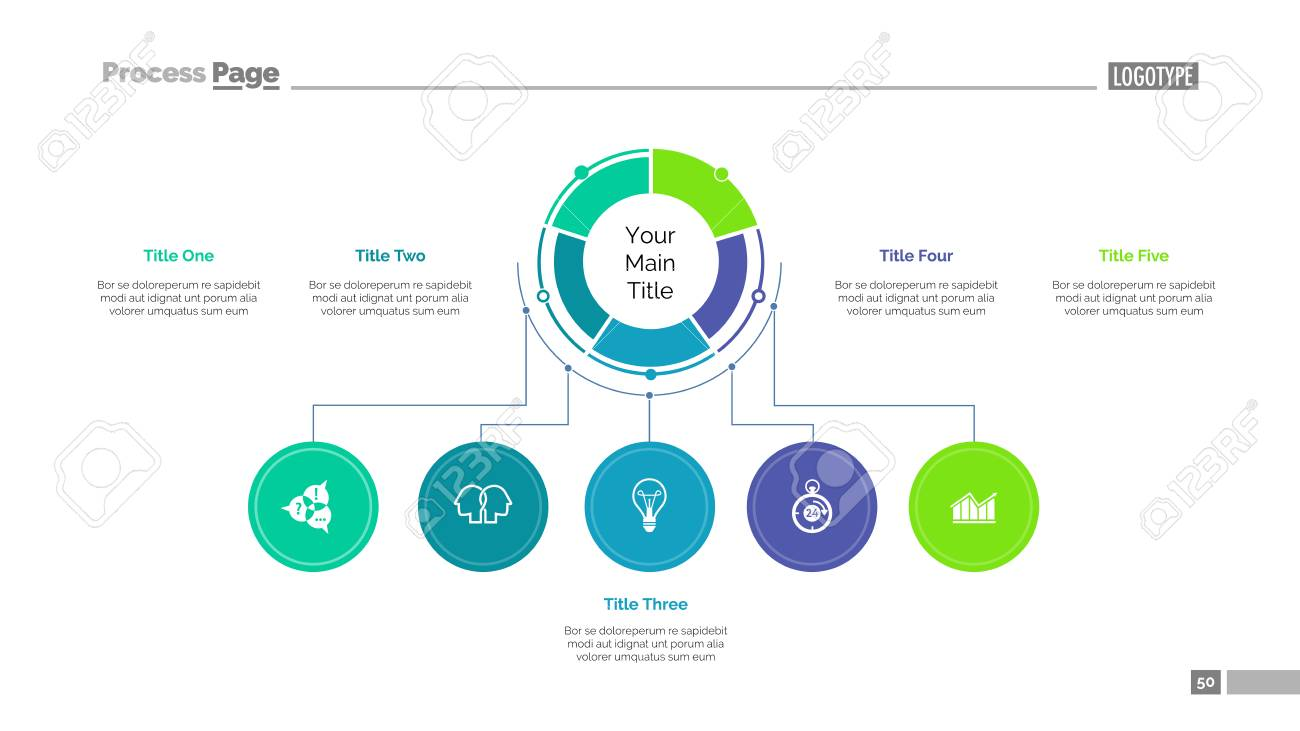 business structure slide template royalty free cliparts vectors