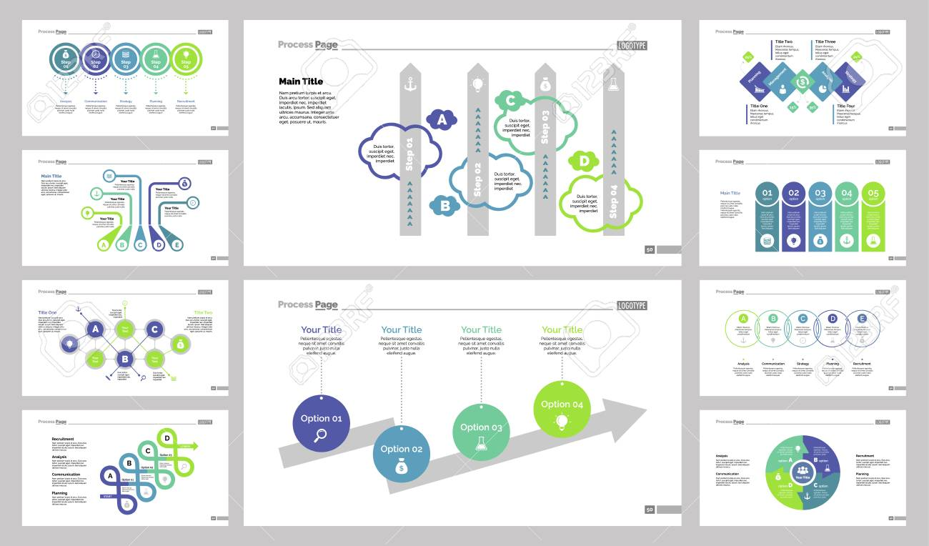 Diagram Template Set Can Be Used For Workflow Layout, Annual ...