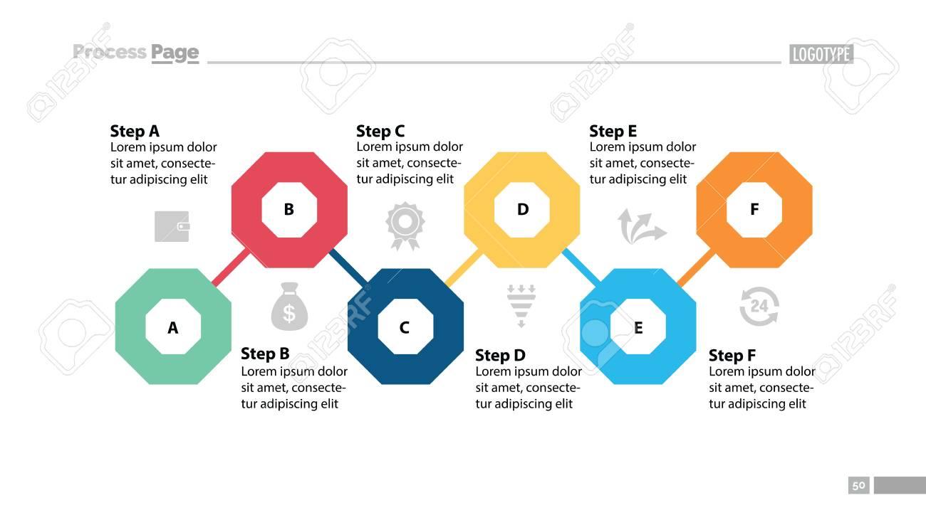 six steps flowchart design element of chart diagram presentation