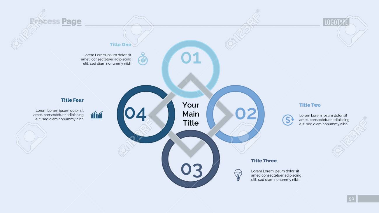 Rhomb diagram  Process chart, cycle graph, layout  Creative concept