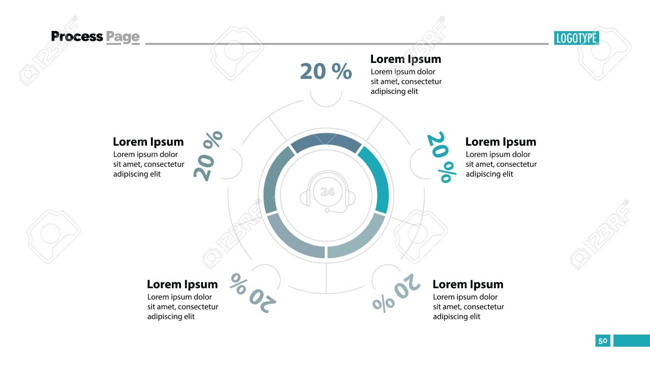 Call Center Efficiency Slide Template Business Data Graph Chart Design Creative