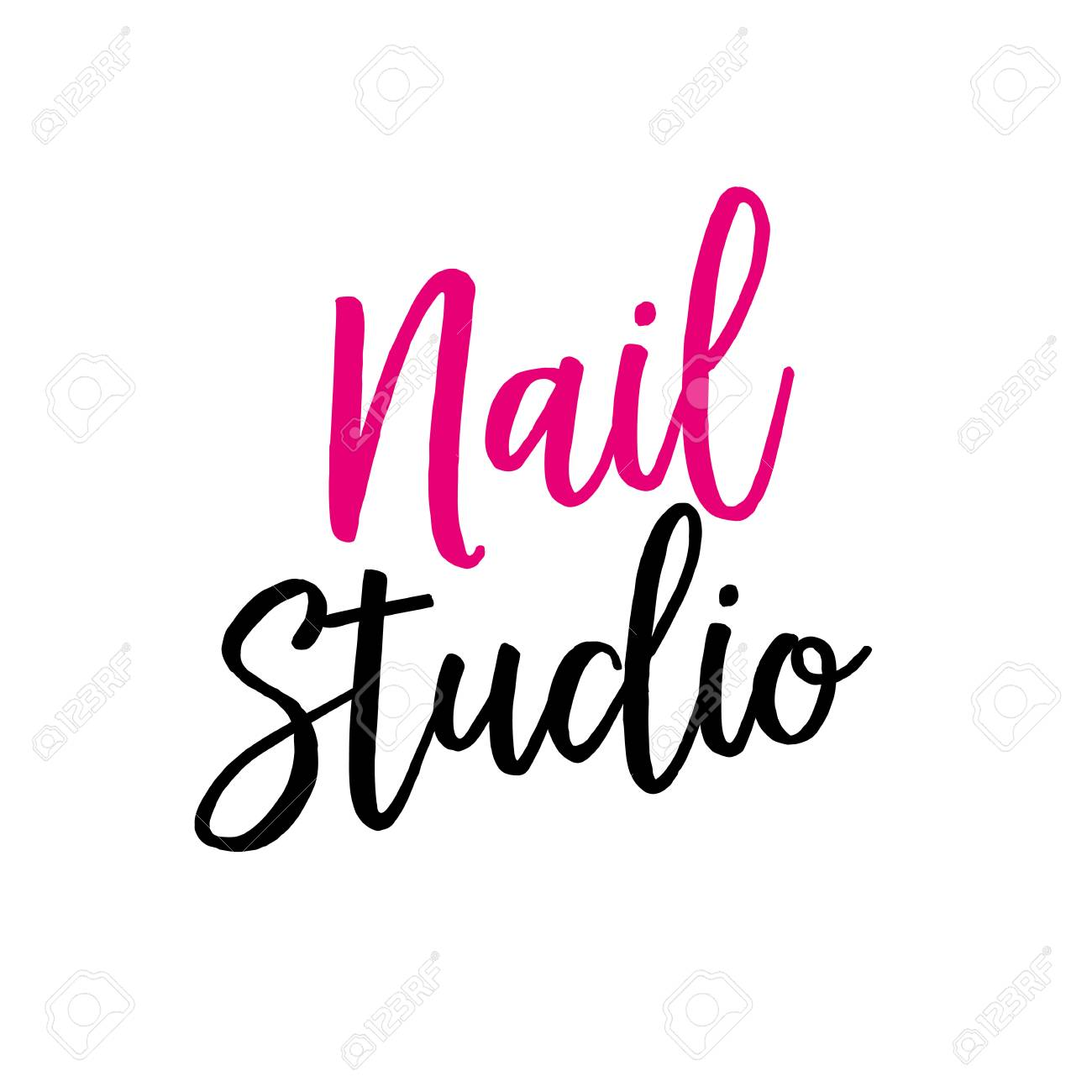 nail studio lettering for logo designs royalty free cliparts rh 123rf com mail logo nail logix