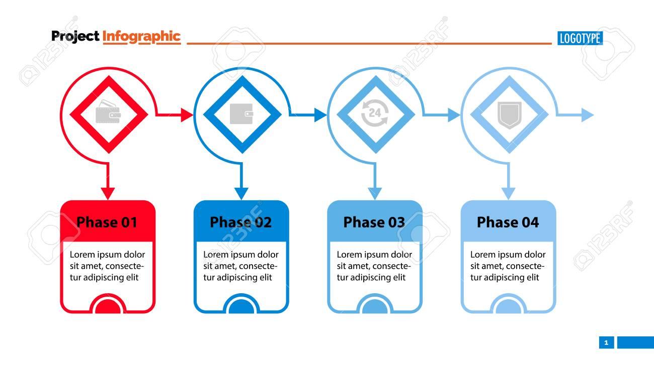 Four Options Process Chart Slide Template Business Data Flow Diagram Vs Design