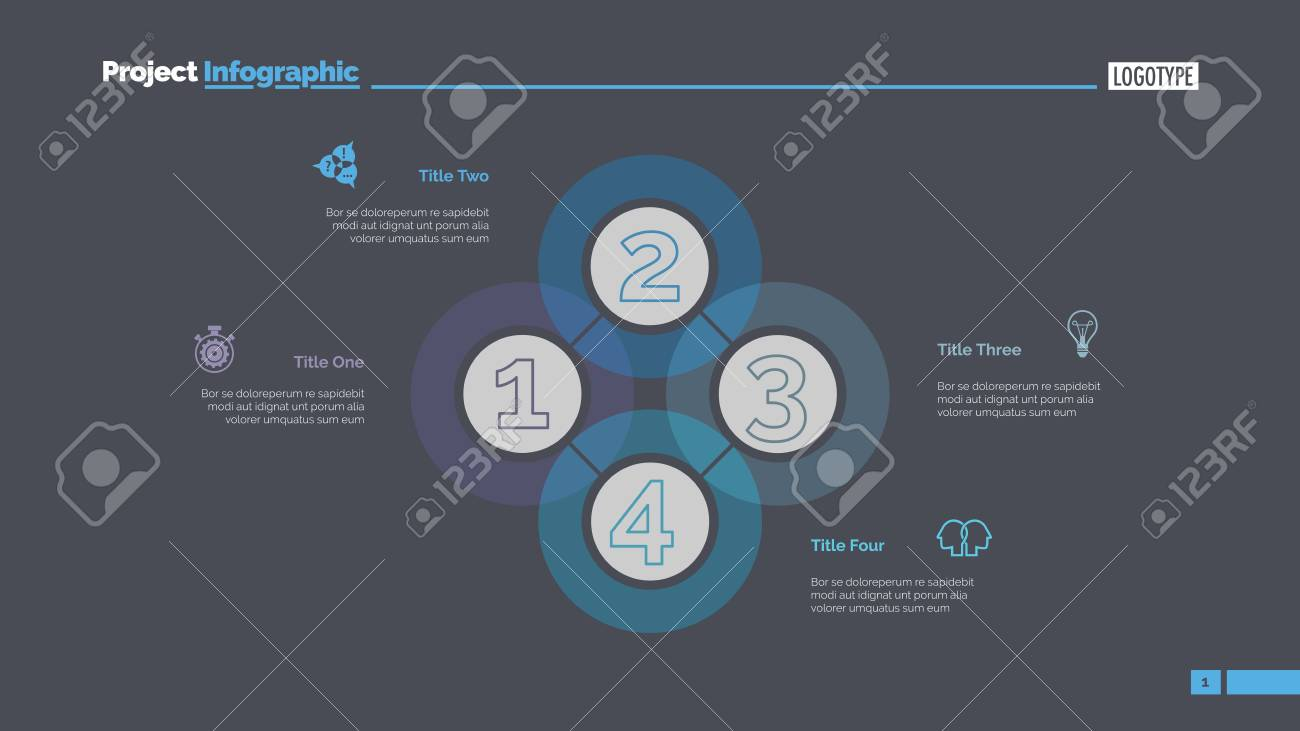Quadruple intersect slide template business data graph diagram graph diagram creative concept for infographic templates presentation report can be used for topics like workflow strategy analysis ccuart Images