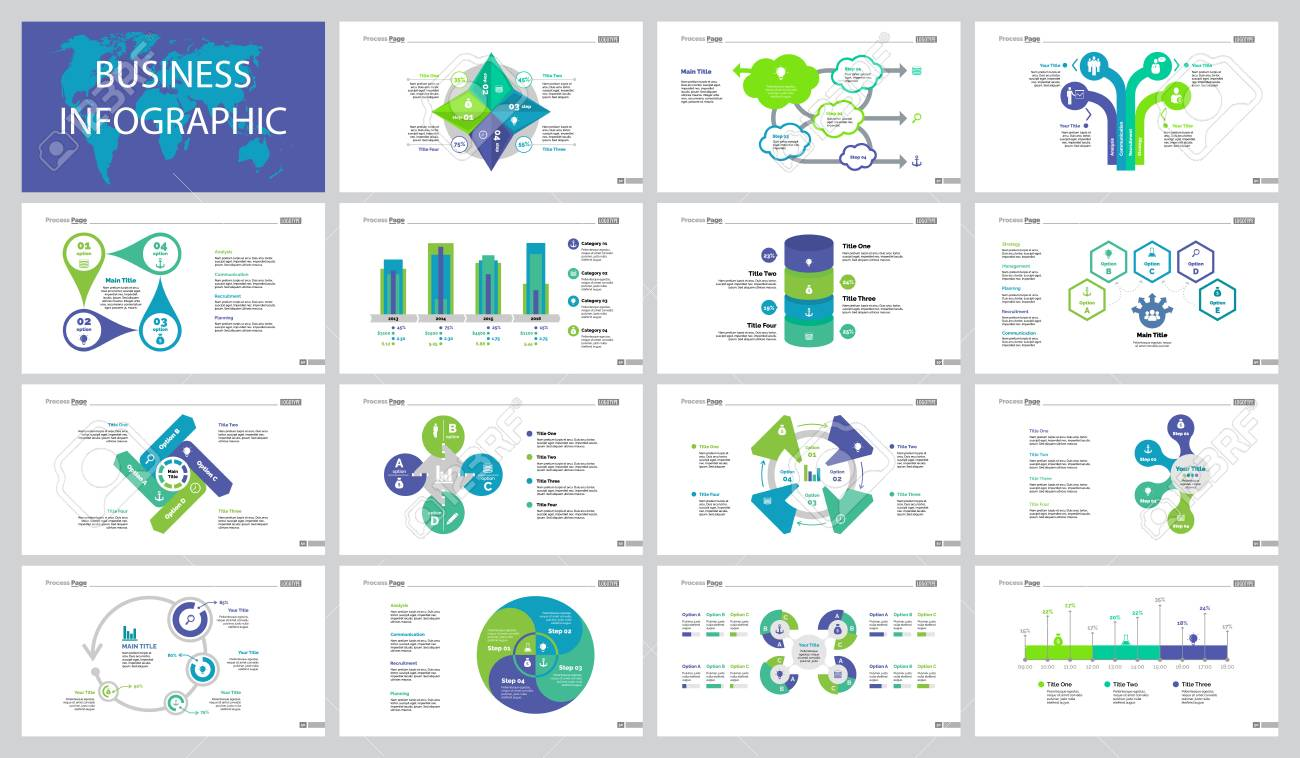 Successful Teamwork Slide Templates Set. Royalty Free Cliparts ...
