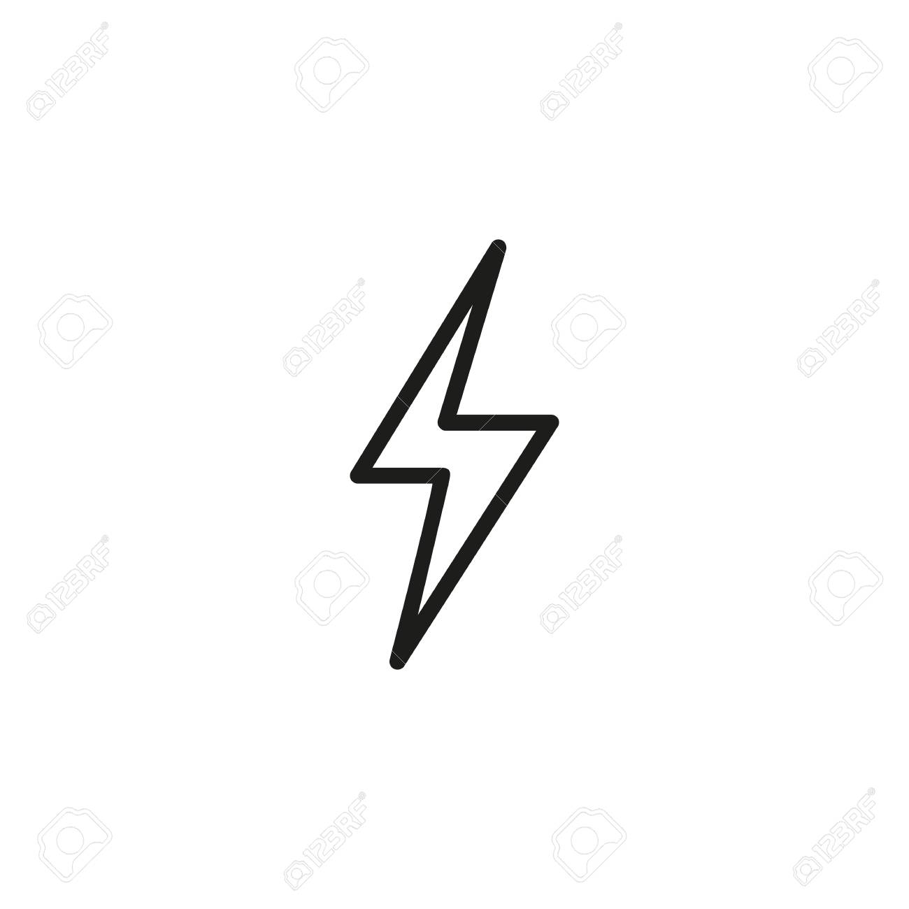 Electricity Symbol Line Icon Royalty Free Cliparts, Vectors, And ...