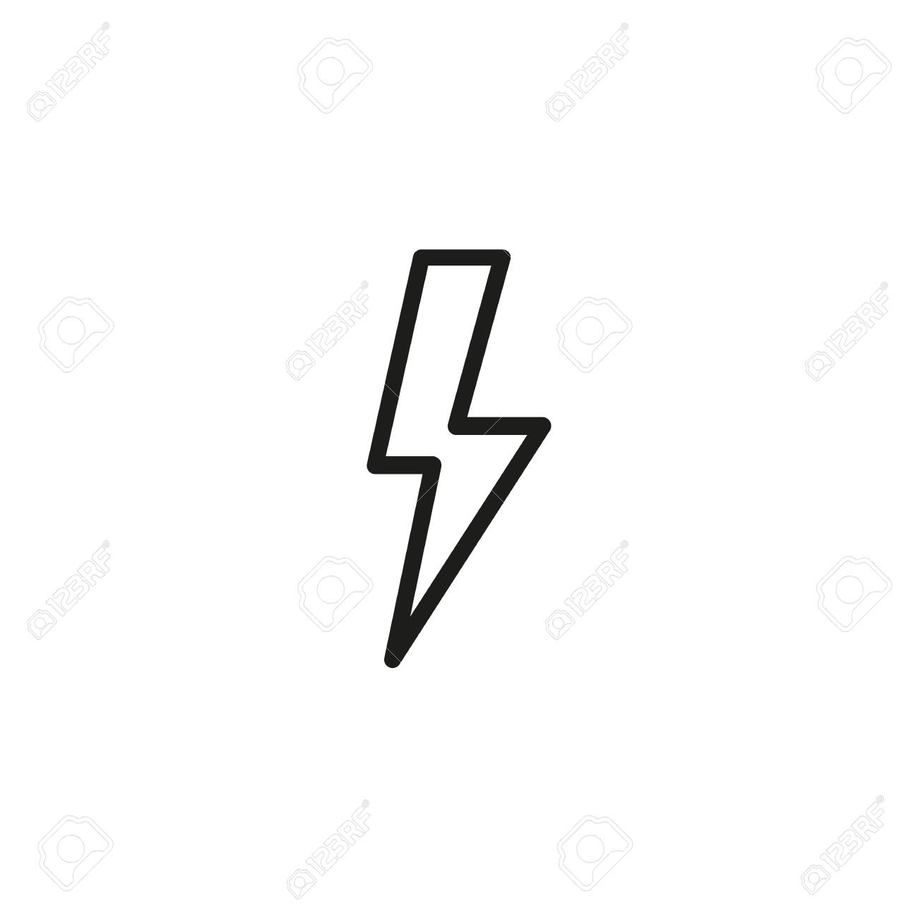 Line Icon Of High Voltage Symbol. Electricity, Power, Lightning ...