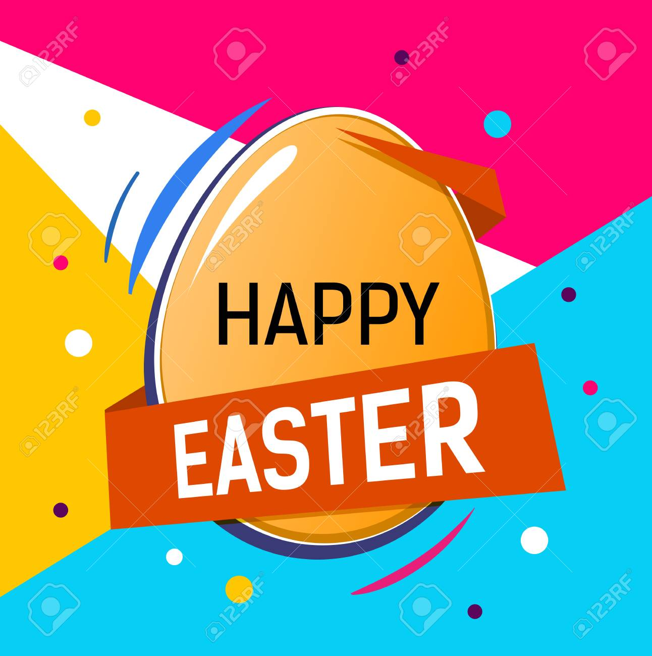 Happy easter lettering on egg easter greeting card with colorful happy easter lettering on egg easter greeting card with colorful background typed text m4hsunfo