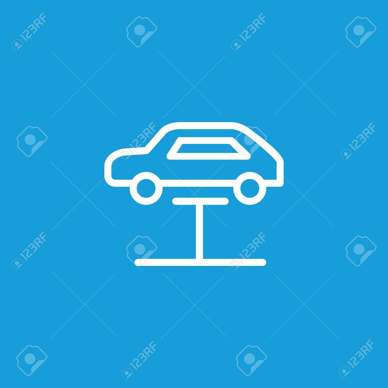 Icon of car repair  Lift, elevator, garage  Car service concept