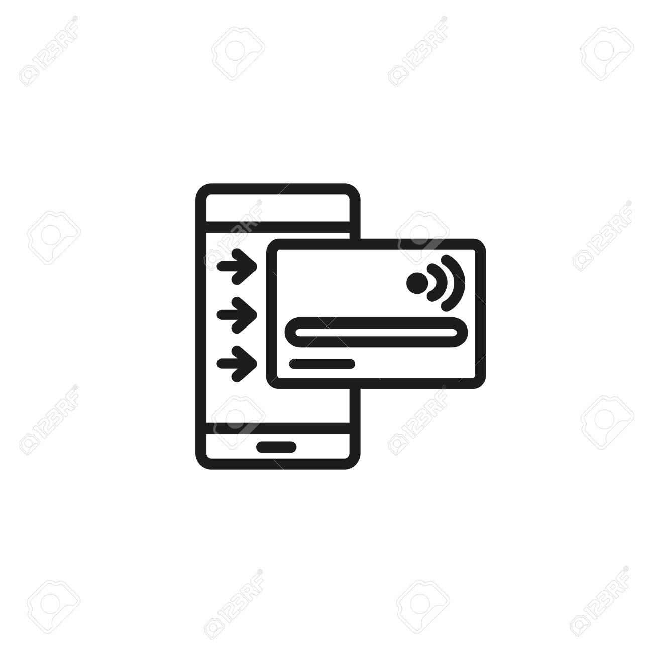 Online Credit Line Icon. Entering Data, Credit Card, Internet