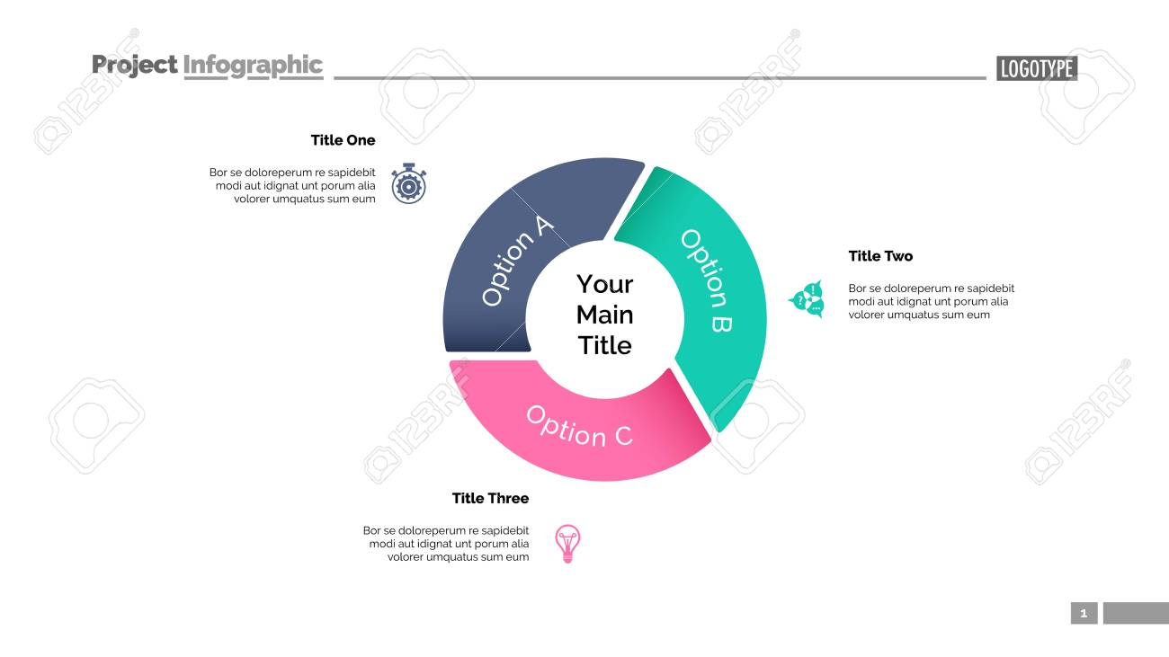Pie Chart With Three Elements  Diagram, Option Graph, Layout