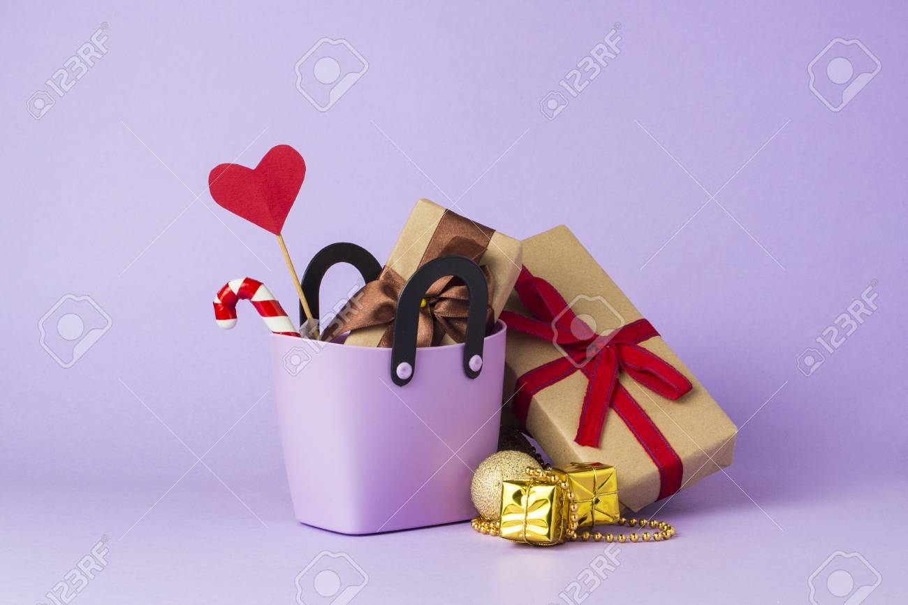 Small Plastic Bag For Shopping Gift Boxes Heart On A Stick