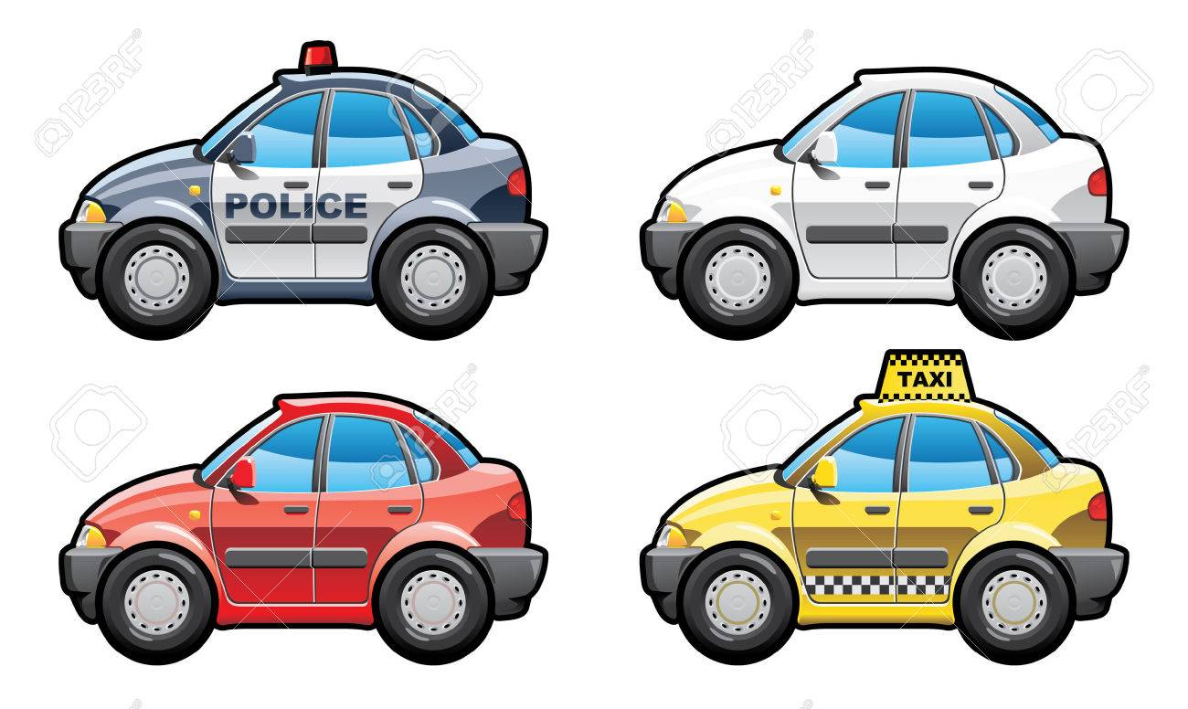 8 illustration of cars. (Simple gradients only - no gradient mesh.) Stock Vector - 6709232