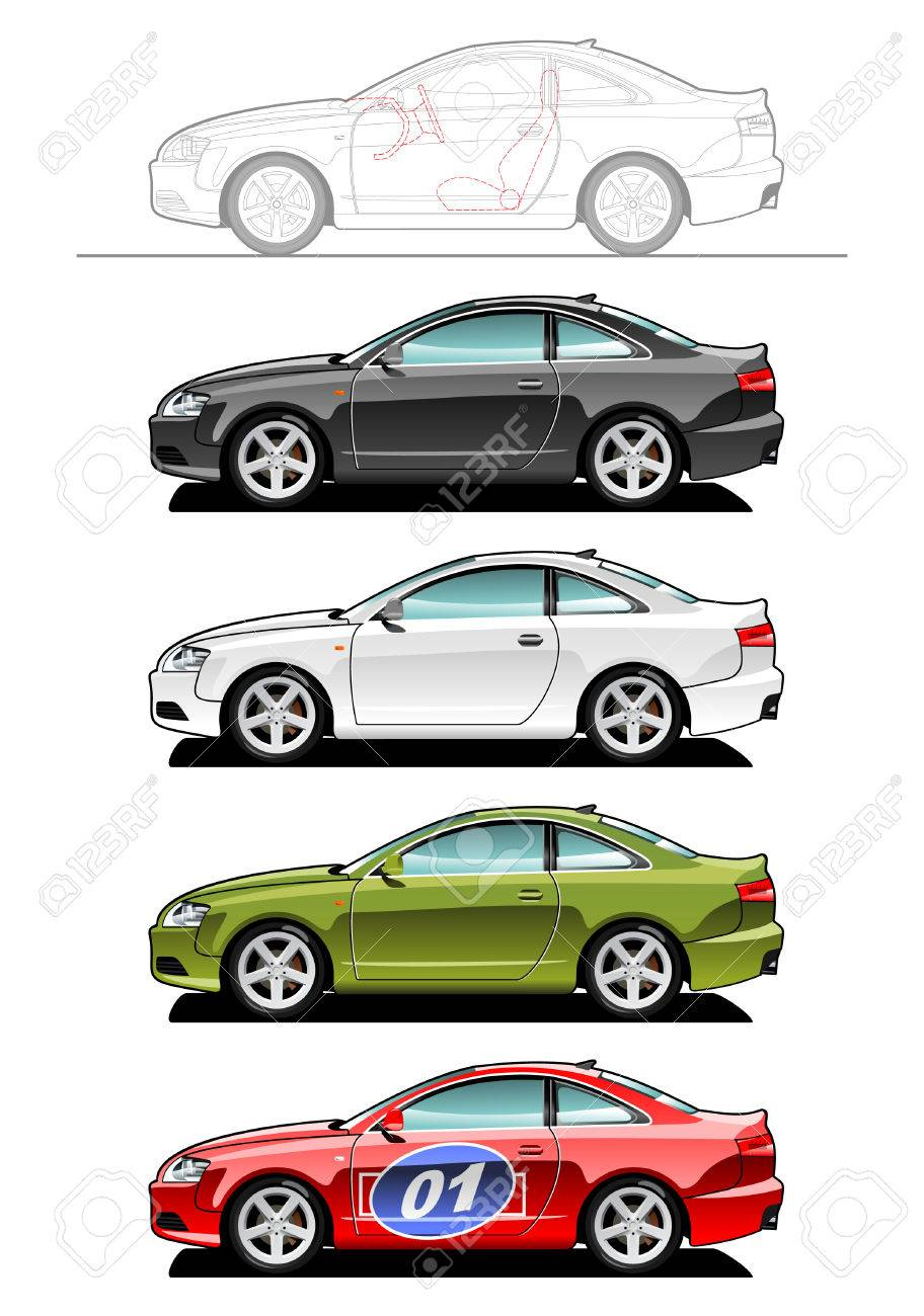 Part Of My Collections Of Car Body Style Simple Gradients Only