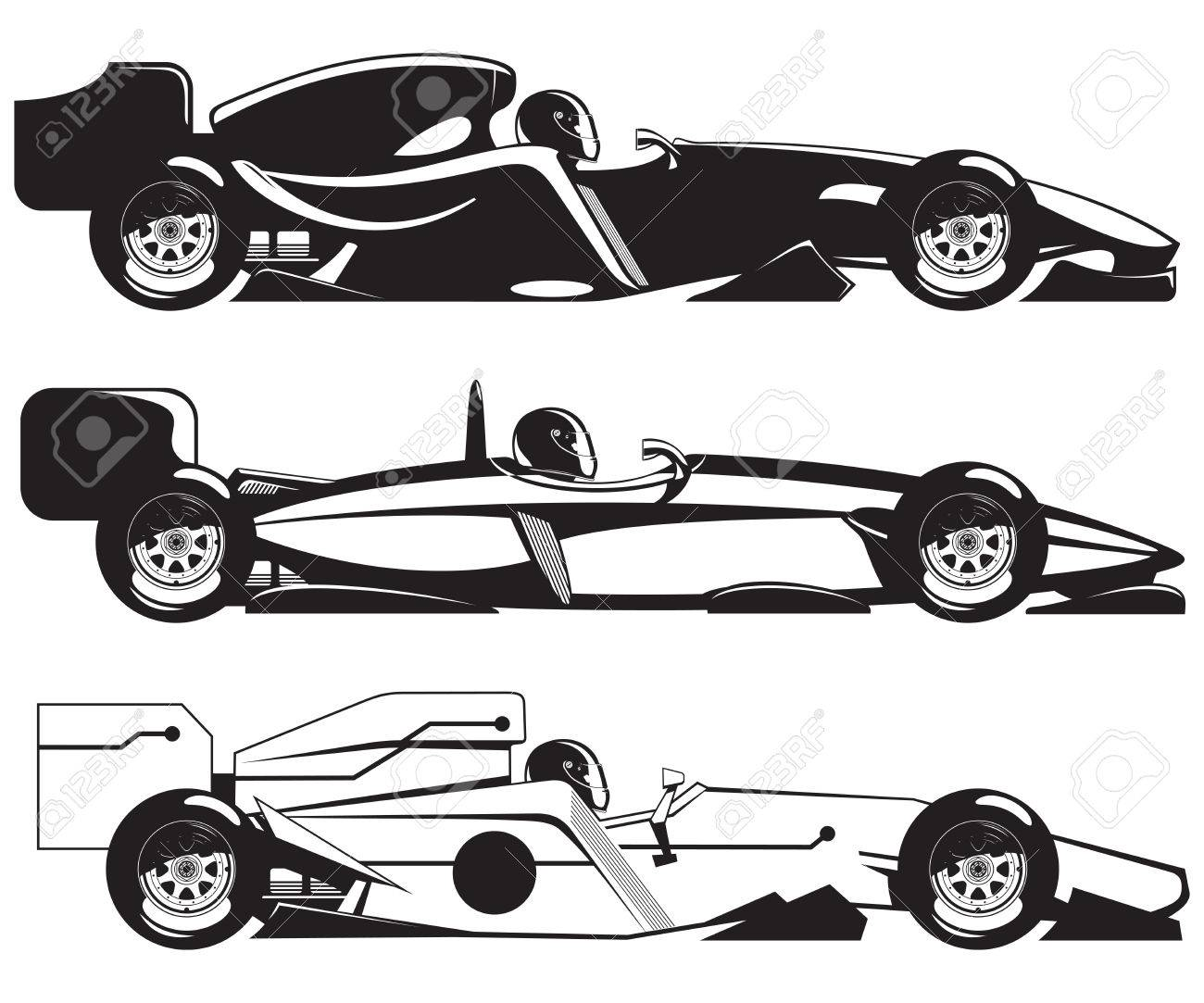 formula racing car Stock Vector - 7037088