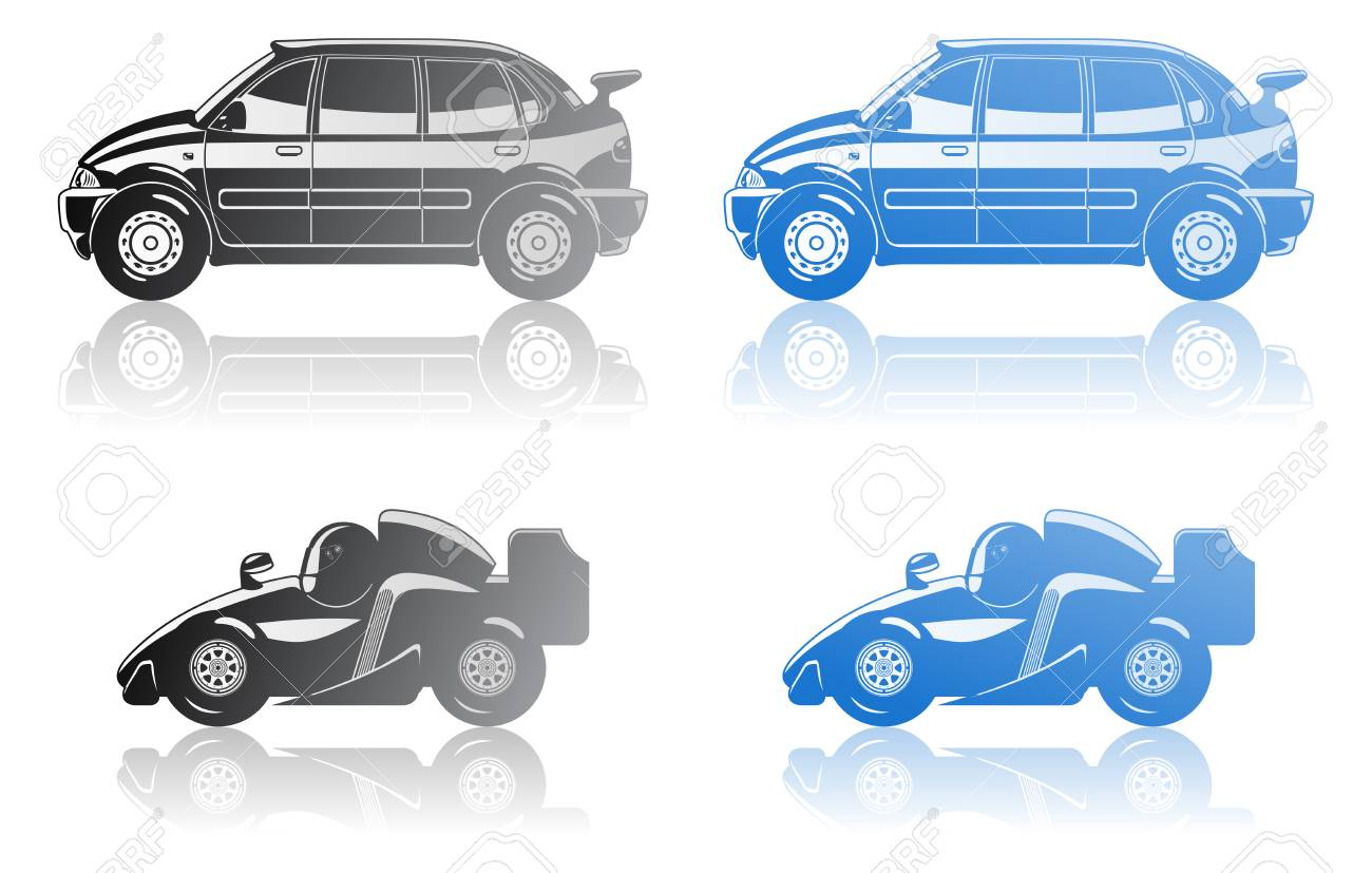 formula 1 and limousine Stock Vector - 8428064