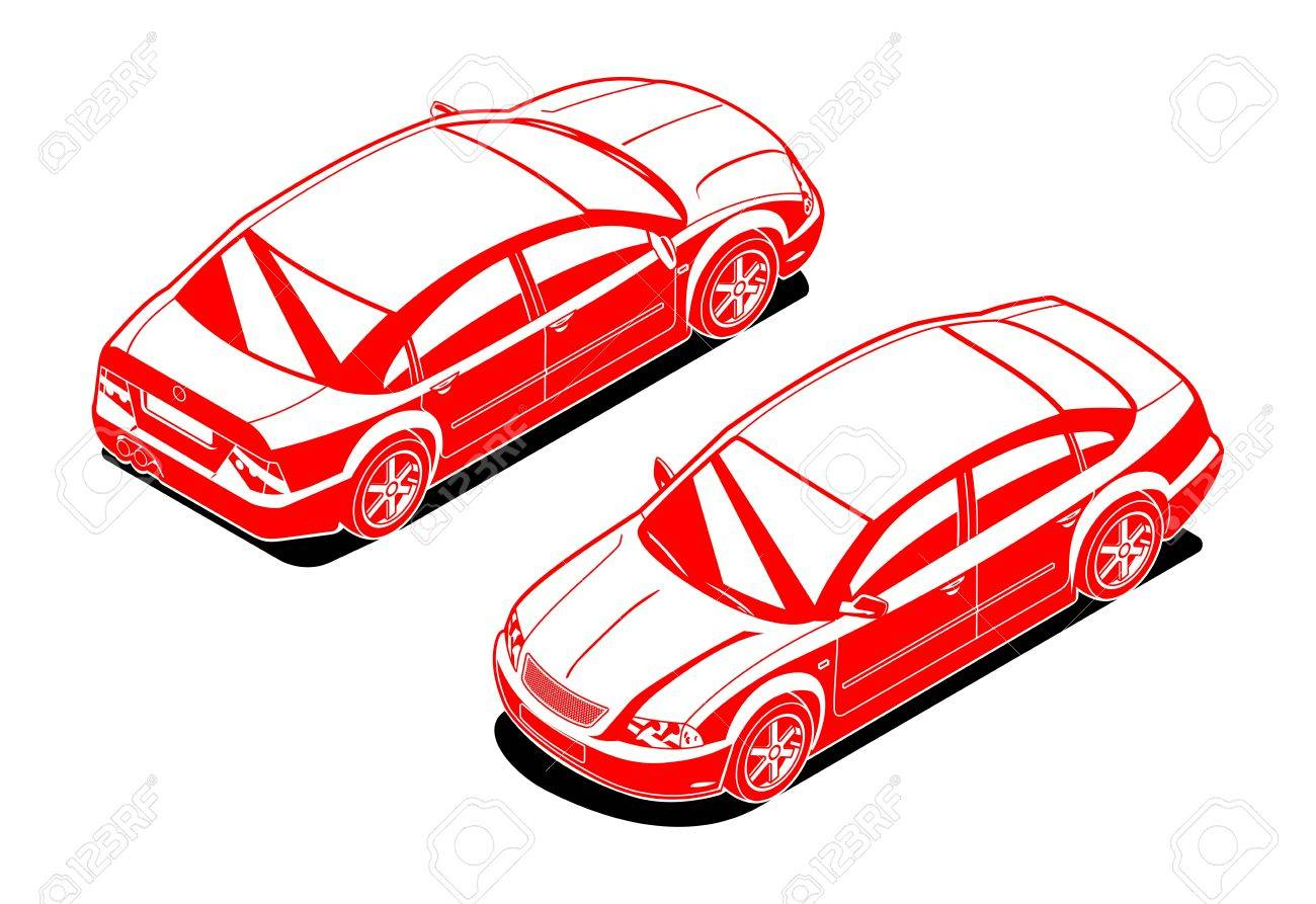 isometric image of a car royalty free cliparts vectors and stock