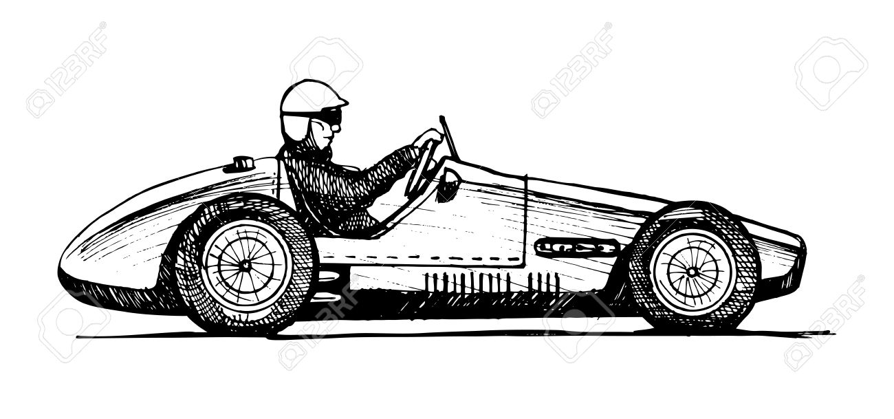 Vector Drawing Of Formula 1 Racing Car Stylized As Engraving Royalty Free Cliparts Vectors And Stock Illustration Image 24559760